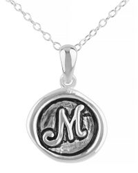 Lord & Taylor | Metallic Oxidized M Pendant Necklace | Lyst