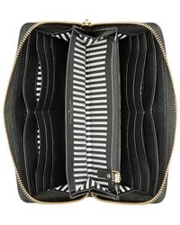 kate spade new york | Black Lacey Pebbled Leather Wallet | Lyst