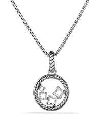 David Yurman - Metallic Quatrefoil Charm With Diamonds - Lyst