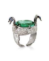 Bernard Delettrez | Metallic Swan Fluorite And Gold Ring | Lyst