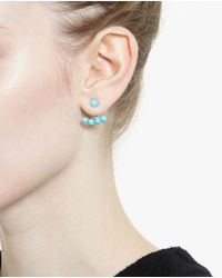Yvonne Léon | Blue 18k Yellow Gold And Turquoise Lobe Earring | Lyst