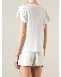 MICHAEL Michael Kors | White Striped Sequin Top | Lyst