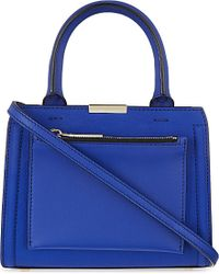 Victoria Beckham | Blue Mini Victoria Leather Tote | Lyst