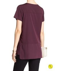 Banana Republic - Purple Factory Pieced Blouse - Lyst