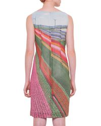 Akris - Multicolor Silk-crepe Marocain Tulip-field Dress - Lyst