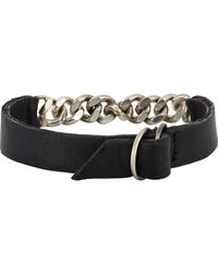 Loren Stewart | Black Leather & Chain Bracelet for Men | Lyst