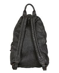 Officine Creative Natural Painted Leather Backpack for men