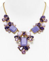 "kate spade new york | Purple Glitzy Spritz Statement Necklace, 17"" | Lyst"