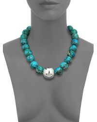 Nest | Blue Turquoise Jasper Beaded Statement Necklace | Lyst