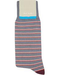 Paul Smith - Gray Nicostripe Socks for Men - Lyst