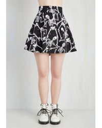 Folter Inc - Black Feeling Playful Skirt In Skeletons - Lyst