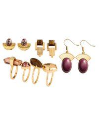 H&M | Metallic Earrings And Rings | Lyst