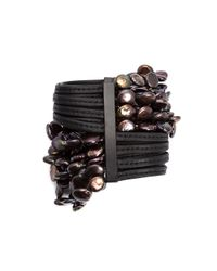 Monies - Black Multi Beaded Strands Bracelet - Lyst