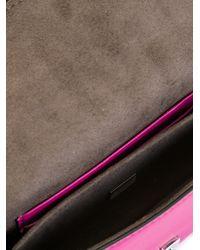 Fendi - Pink Micro Baguette Bag - Lyst