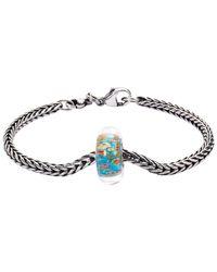 Trollbeads | Blue Sterling Silver Italian Glass Soft Sunrise Bracelet | Lyst
