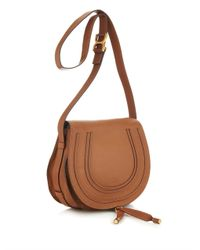 Chloé - Brown Marcie Medium Leather Cross-Body Bag - Lyst