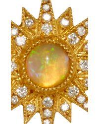 Arman Sarkisyan | Metallic Gold Supernova Studs With Ethiopian Opal Center | Lyst