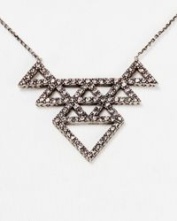 "House of Harlow 1960 - Metallic 1960 Tessellation Necklace, 16"" - Lyst"