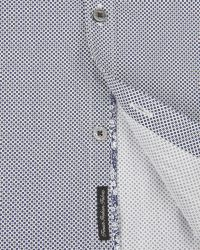 Ted Baker | Blue Debonair Geo Print Shirt for Men | Lyst