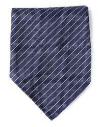 Giorgio Armani - Blue Striped Pocket Square for Men - Lyst