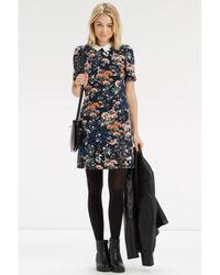 Oasis - Multicolor Floral Collar Shift Dress - Lyst