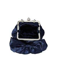 Jessica Mcclintock - Blue Oversized Bow Pouchette - Lyst