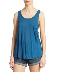 Free People | Blue Hot Pocket Tank Top | Lyst