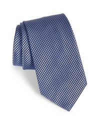 Brioni | Blue Geometric Print Silk Tie for Men | Lyst