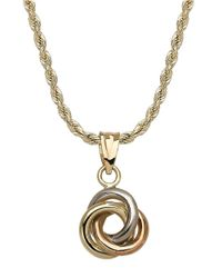 Lord & Taylor | Metallic 14 Kt. Yellow Gold Knot Necklace | Lyst