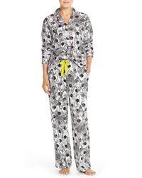 DKNY   Gray Flannel Pajamas   Lyst