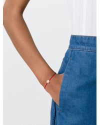 Ruifier | Red 'sassy' 18k Rose Gold Charm Cord Bracelet | Lyst