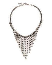 DANNIJO | Metallic Hallsy Crystal Fringe Bib Necklace | Lyst