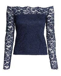 H&M | Blue Off-the-shoulder Lace Top | Lyst
