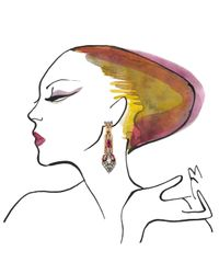 Iosselliani | Blue Faded Ink Rose Earrings | Lyst