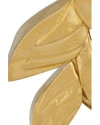 Virzi+de Luca | Metallic Tropical Flower Gold-Plated Earrings | Lyst