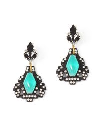 Lulu Frost | Black Lucid Drop Earrings | Lyst