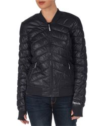 Bench | Black Puffer Thumb-hole Bomber Jacket | Lyst
