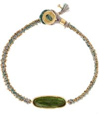 Brooke Gregson - Gold And Green Bracelet - Lyst