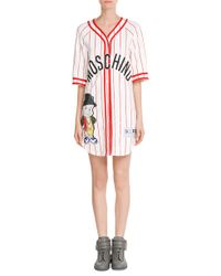 Moschino - Baseball Jersey T-shirt Dress - Multicolor - Lyst