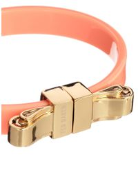 Ted Baker   Orange Kiah Coral Metal Bow Bangle   Lyst