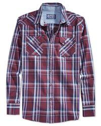 American Rag | Red Weirich Plaid Shirt for Men | Lyst