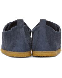 Burberry - Blue Navy Suede Tobias Moccasins for Men - Lyst