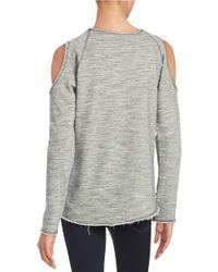 Nation Ltd | Gray Cold-shoulder Sweatshirt | Lyst