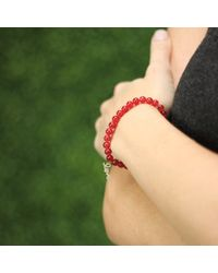 Sydney Evan | Red Diamond Love Beaded Bracelet | Lyst