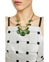 Vickisarge | Green Adele Small Necklace | Lyst