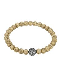 John Hardy - Natural Lotus Seed Beaded Bracelet With Magnetic Clasp - Lyst