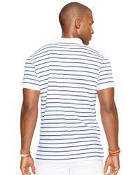 Polo Ralph Lauren | White Striped Pima Soft-touch Polo Shirt for Men | Lyst