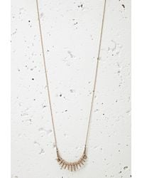 Forever 21 - Pink Faux Stone Matchstick Necklace - Lyst