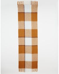 Pieces - Multicolor Oversized Check Scarf - Lyst