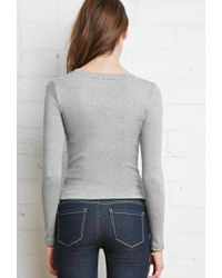 Forever 21 | Gray Classic Ribbed Top | Lyst